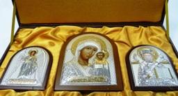 Подарочные наборы с иконами из серебра в Москве
